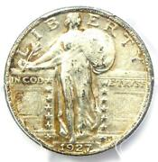 1927-s Standing Liberty Quarter 25c Coin - Certified Pcgs Au50 - 2,250 Value