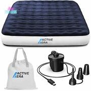Luxury Camping Air Mattress Low-rise Camp Bed With Built In Pump Twin Size New