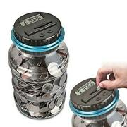 2.5l Large Piggy Bank Counter Coin Electronic Digital Lcd Counting Coin Money Sa