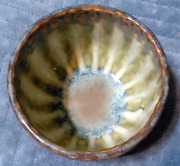 Good Earth Pottery Stoneware Rice Bowl, Green, Made In Usa, Richie Watts, Ms