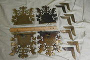 Antique Bandr Brass Hardware/decorations/latch/corners For Chest/trunk Birds