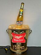 Classic Miller High Life Lighted Sign Vintage The Champagne Of Bottle Beer