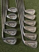 Must See Tommy Armour 855s 11 Clubs 3-9,p,w3,s,w4 Iron Golf Set Rh Steel Reg.