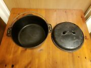 Vintage Griswold 1036 D Unmarked Matched 8 Cast Iron Dutch Oven And Lid 1037 B 8
