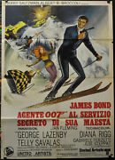 On Her Majestyand039s Secret Service And03969 Orig 39x55 Italy Movie Poster George Lazenby