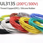 White Silicone Cable Ul3135 Flexible Electronic Wire Tin Copper 2awg30awg