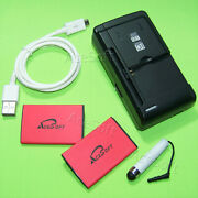 Acesoft 2x 1300 Mah Extended Slim Battery Charger For Verizon Lg Cosmos 3 Vn251s