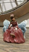 Vintage Thames Hand Painted Japan Lady On Couch Ceramic Figurine - Lady On Bench