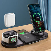 4 In 1 Qi Wireless Charger Dock Station For Apple Watch Air Pods Iphone Samsung