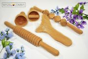 Wood Therapy/maderoterapia Colombiana- Kit Corporal Include 5 Pieces