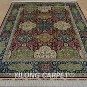 Yilong 5and039x7and039 Handknotted Silk Carpet Home Interior Oriental Luxury Area Rug 1047