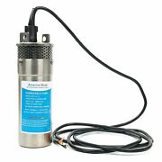 Dc Stainless Shell Submersible Deep Well Water Pump Solar Battery 3.2gpm Esa 12v