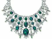 925 Sterling Silver Opal And Diamond Highend Party Statement Necklace Fine Jewelry