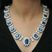 925 Sterling Silver Necklace White Round Pear Marquise Blue Cushion