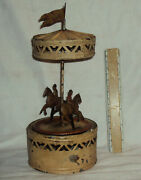 Vintage Guntherman Germany Horse Carousel Tinplate Toy 1890 Old Collectible Rare