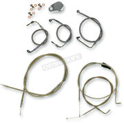 La Choppers Ss Braided Cable And Brake Line Kit For Mini Ape Hangers La-8005kt-08