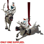 Disney Store Sven And Olaf Xmas Tree Bauble Sculpted Ornament Decoration Frozen