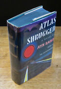 Atlas Shrugged 1957 Ayn Rand Signed, Fine First Edition, 1st Printing In Dj