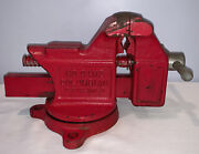 Vtg Columbian No. 04m2 Swivel Bench Vise With 4 Jaws Made In Cleveland Oh Usa