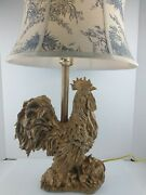 27 Tall Resin Barnyard Gold Color  Rooster/chicken/hen Table Lamp