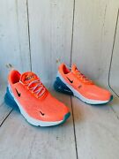 Nike Air Max 270 Womenand039s Running Shoes Lava Glow/blue Ci5856 600 Pink