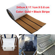 94and039and039x7and039and039 Adhesive Eva Foam Boat Decking Yacht Teak Flooring Carpets Pad