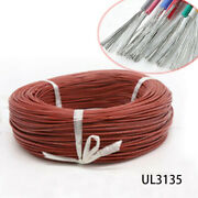 Brown Silicone Cable Ul3135 Flexible Electronic Wire Tin Copper 2awg30awg