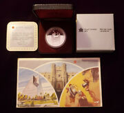 1988 Canadian Proof Silver Dollar With Coa And 1984 Canada 6 Coin Proof-like Set