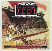 Star Wars Rotj Parker Brothers Battle At Sarlacco's Pit Game W/ Figures 1983