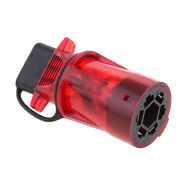 Red 7 Way Round 4 Pin Trailer Light Adapter Converter For Car Acessories
