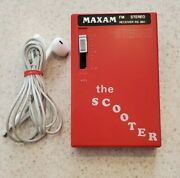 Rare Maxam Rs-881 Stereo Receiver Radio The Scooter Tested And Works