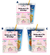 8 Girl Pink Circus Tent Capri Sun Labels Birthday Party Favors Suns Supplies