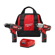 2-volt Lithium-ion Cordless Drill Impact Driver Combo Kit Compact And Versatile