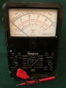 Simpson 260 Series Lll Volt-ohm-milliammeter W/case And Test Leads Needs Cal.