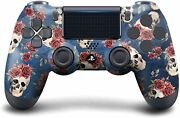 Gaming Controller Skull And Rosses Compatible With Ps4 Console Wireless