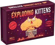 Exploding Kittens Party A Russian Roulette Card Game Easy Family Friendly