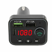 5.0 Fm Transmitter Mp3 Player Phone Charger Battery Voltage Detection