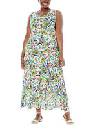 Woman Within Dress Plus Size 18 - 36 Colourful Paisley Crinkle Fabric Petite Fit