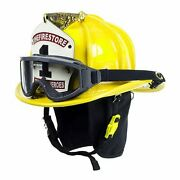 Cairns Yellow N6a Houston Leather Fire Helmet - Yellow, Large, Ess Innerzone 2