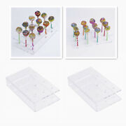 2x 12 Holes Acrylic Lollipop Stand Cake  Servers Rack For Wedding Party