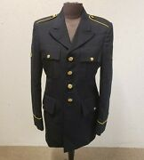 Us Army Blue Poly / Wool Dress Coat 8405-01-552-2832 Size 34rc