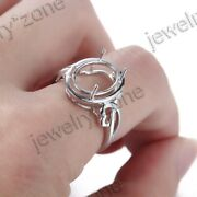 Fine Jewelry Solid 18k White Gold Engagement Wedding Ring 14x10mm Oval Setting