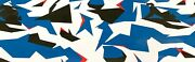 Way2buy Blue White Black Red Camouflage Vinyl Car Wrap With Air Release Adhesive
