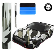 Way2buy Black White Gray Camouflage Vinyl Car Wrap With Air Release Adhesive
