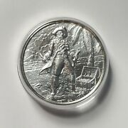 2 Oz Silver The Captain Privateer High Relief Round New