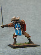 Musketeer With Dagger And Sword. Scale 1/32, 54 Mm. Elite Tin Soldiers