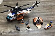 Lego City 7738 Coast Guard Helicopter And Life Raft With Free Set 60011
