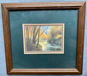 Signed Jim Gray The Angler Fishing Lithograph Framed