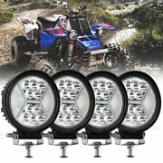 4x Round 4 Inch Front Bumper Led Work Light Pods For Yamaha Banshee Headlights