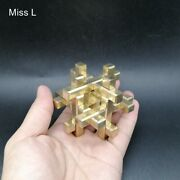 3d Puzzle Cage Cross Structure Game Brain Teaser Toy Chinese Kong Ming Lock